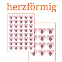 Essbare Bilder für Kleingebäck herzförmig