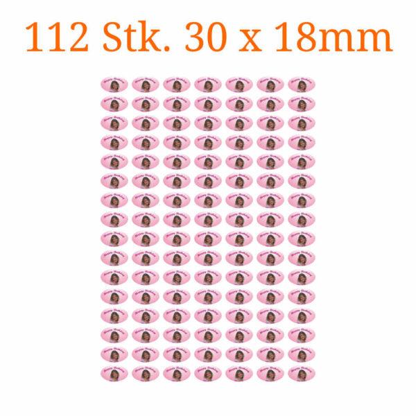 112 Stück essbare Bilder ovale 30 x 18mm