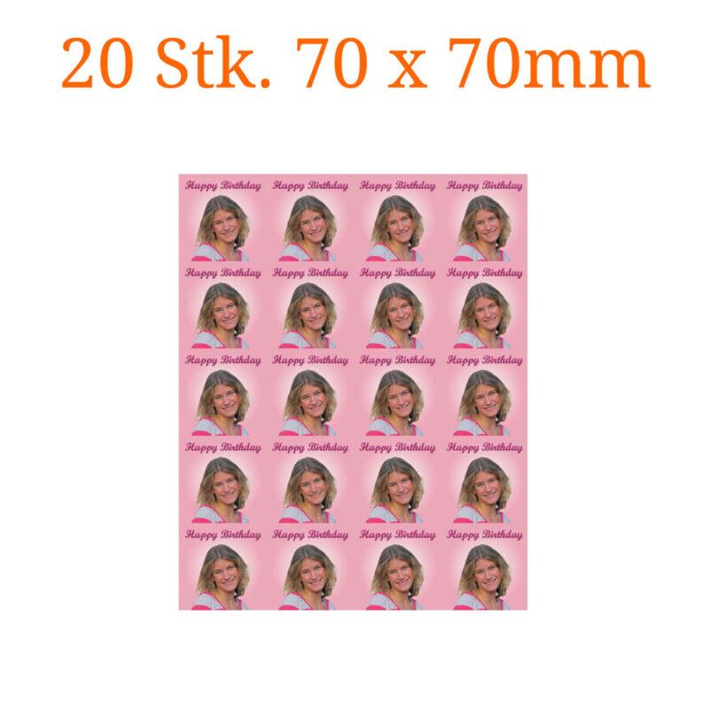Essbare Bilder für Kleingebäck quadratisch 70 x 70mm