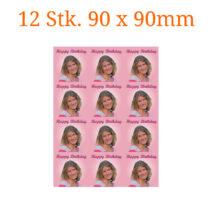 Essbare Bilder für Kleingebäck quadratisch 90 x 90mm