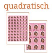 Essbare Bilder für Kleingebäck quadratisch