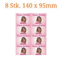 8 Stück essbare Bilder rechteckig 140 x 95mm