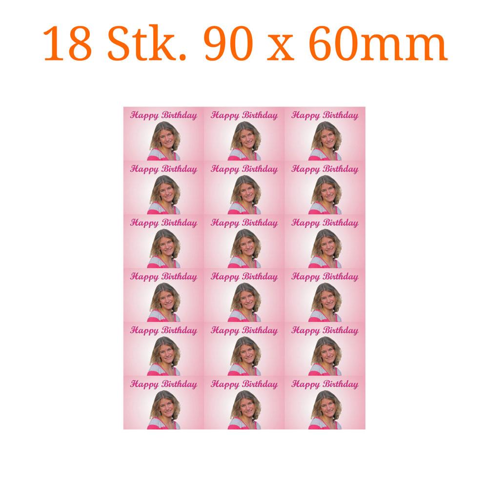18 Stück essbare Bilder rechteckig 90 x 60mm