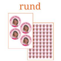 Essbare Bilder für Kleingebäck rund