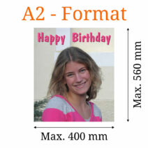 Essbares Bild eckig A2-Format