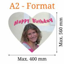 Essbares Bild herzförmig A2-Format