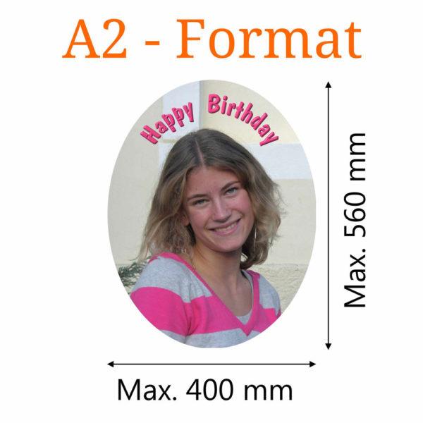Essbares Bild oval A2-Format