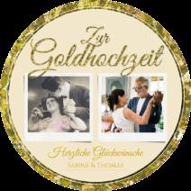 Hochzeit & Gold & Silber rund