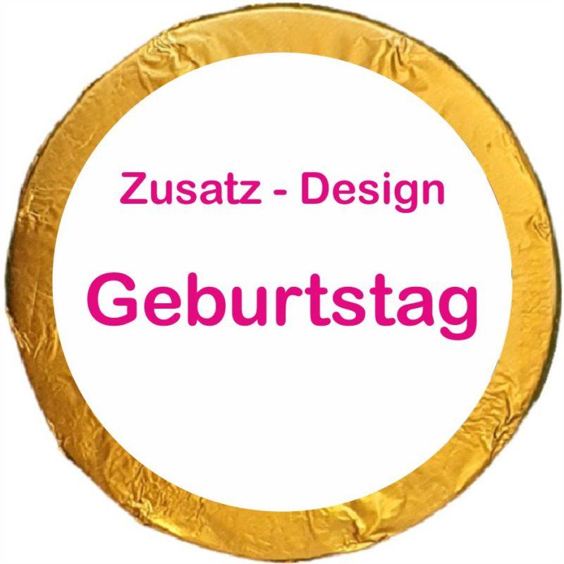 Schokotaler Zusatz Design Geburtstag